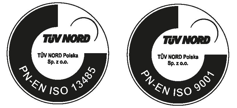 Certyfikaty ISO 13485 i ISO 90001